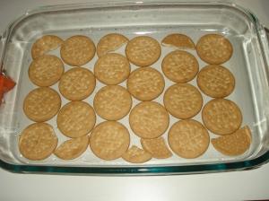 Molde de cristal con las galletas